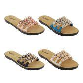Wholesale Footwear Women's Floral Rhinestone Slides
