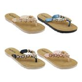 Wholesale Footwear Women's Floral Rhinestone Sandals