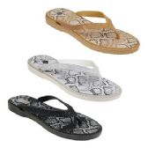 Wholesale Footwear Women's Snake Print Sandals
