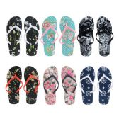 Wholesale Footwear Women's Printed Flip Flop