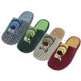 Wholesale Footwear Men's Cotton Corduroy With Dog Embroidery Upper House Slippers