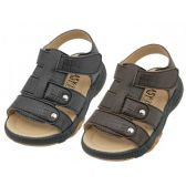 Wholesale Footwear Boys Leather Upper Velcro Sandals