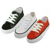 Wholesale Footwear Child's Comfortable Cotton Canvas Lace Up Shoe
