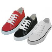 Wholesale Footwear Youth's Comfortable Cotton Canvas Lace Up Shoes Assorted