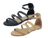 Wholesale Footwear Ladies Fashion Sandals In Camel