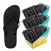 Wholesale Footwear Flip Flop - Black Bulk