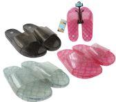Wholesale Footwear Women's Glitter Jelly Slide Sandals