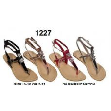 Wholesale Footwear Ladies Sandals With Rhine Stone Design