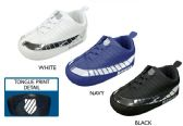 Wholesale Footwear Infant Boy's Smooth & Metallic Sneakers w/ Elastic Laces