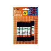 Wholesale Footwear Black Shoe Laces