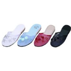 Wholesale Footwear Ladies Chinese Slipper48 Pairs Assorted Colors 5-10