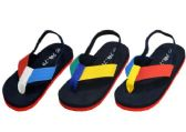 Wholesale Footwear Kids Flip Flops With Ankle Strap Assorted Colors