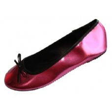 Wholesale Footwear Ladies Metallic Ballerina Flat