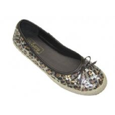 Wholesale Footwear Lady Sequin Juteside Leopard