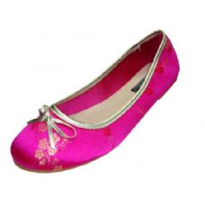 Wholesale Footwear Ladies' Plum Flower Ballerina Shoes
