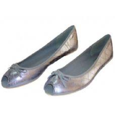 Wholesale Footwear Lady Peek-A-Boo Ballerina Flat Size: 5-10