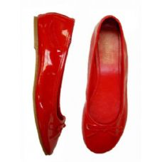 Wholesale Footwear Lady Leather Pattern Ballerina Size: 5-10