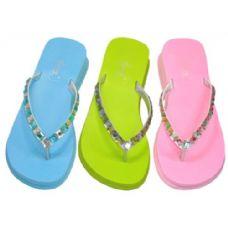 Wholesale Footwear Lady Rhinestones Thong Sandal Size: 6-11