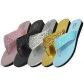Wholesale Footwear Women's Sequin Flip Flops