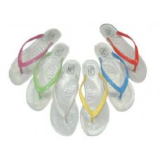 Wholesale Footwear Ladie's Clear Jelly Thong Size: 5-10