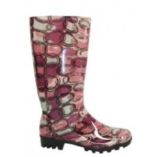 Wholesale Footwear Ladies Circle Pattern Rainboot Size: 6-11
