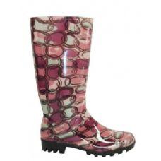 Wholesale Footwear Ladies Circle Pattern Rainboot Size: 6-11