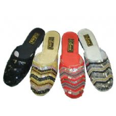 Wholesale Footwear Ladies' Sequin Sandals