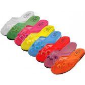 Wholesale Footwear Ladies' Pastel Mesh Slippers With Sequins