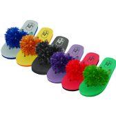 Wholesale Footwear Women's Silk Flower Top Flip Flops