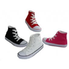 Wholesale Footwear Children's Lace Up High Top Canvas Shoes