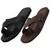 Wholesale Footwear Men's Pu. Upper X-Band Slippers