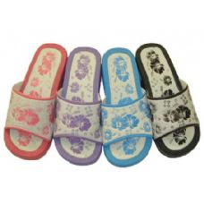 Wholesale Footwear Ladies' Flower Print Slippers