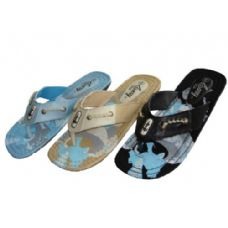 Wholesale Footwear Lady Printed Canvas Thong