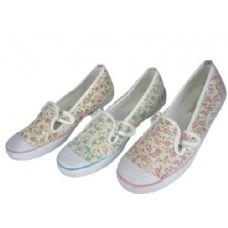 Wholesale Footwear Ladies' Floral Print Canvas Shoes