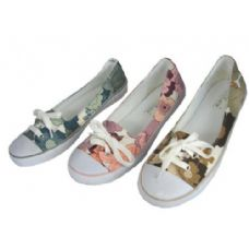 Wholesale Footwear Ladies' Canvas W/ Lace