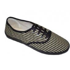 Wholesale Footwear Lady Canvas Stripe Cvo