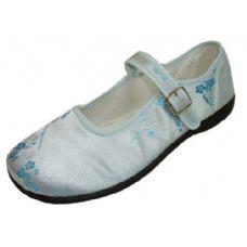 Wholesale Footwear Girl Brocade Maryjane Blue