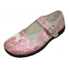 Wholesale Footwear Girl Brocade Maryjane Pink