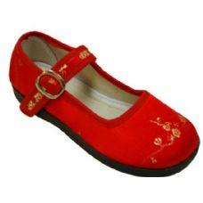 Wholesale Footwear Girl Brocade Maryjane Red