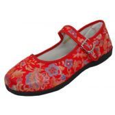 Wholesale Footwear Women's Brocade Mary Jane Shoes(Red Color Only)