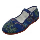 Wholesale Footwear Girls' Brocade Mary Janes ( Navy Color Only)