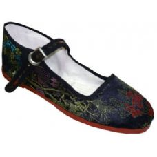 Wholesale Footwear Lady Brocade MaryJane Black, Navy, Red