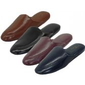 Wholesale Footwear Men's Soft Vinyl Upper Close toe Open Back House Slippers
