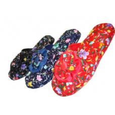Wholesale Footwear Girls' Satin Floral Slippers