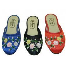 Wholesale Footwear Ladies' Satin Slippers