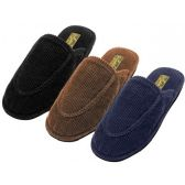 Wholesale Footwear Men's Cotton Corduroy Upper Close toe House Slippers