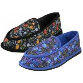 Wholesale Footwear Women's Floral Printed Bedroom Shoe