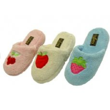 Wholesale Footwear Ladies' Fruit Embroidered Slippers