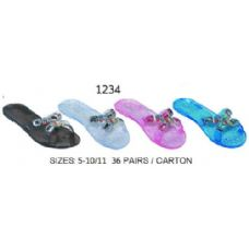 Wholesale Footwear Ladies Jelly Sandal With Stones