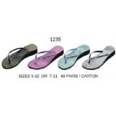 Wholesale Footwear Ladies Wedge Flip Flp
